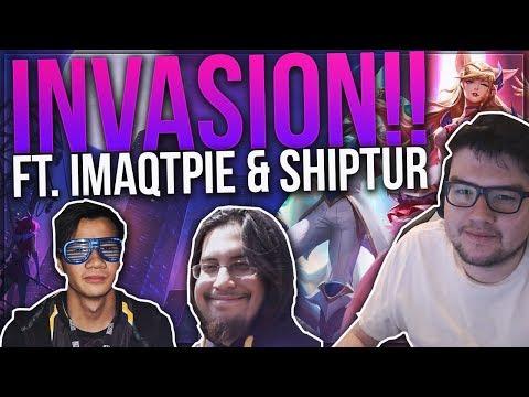 DYRUS PLAYS THE NEW INVASION MODE | Ft. Imaqtpie & Shiphtur