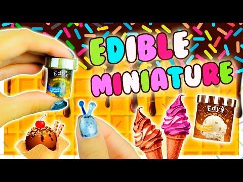 Edible Miniature Ice Cream ~ Dollhouse Food DIY ~ REAL ICE CREAM♥