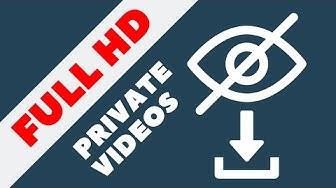 Private Video Download Hack - Full HD (1080p or 4K) YouTube Studio | Handy Hudsonite