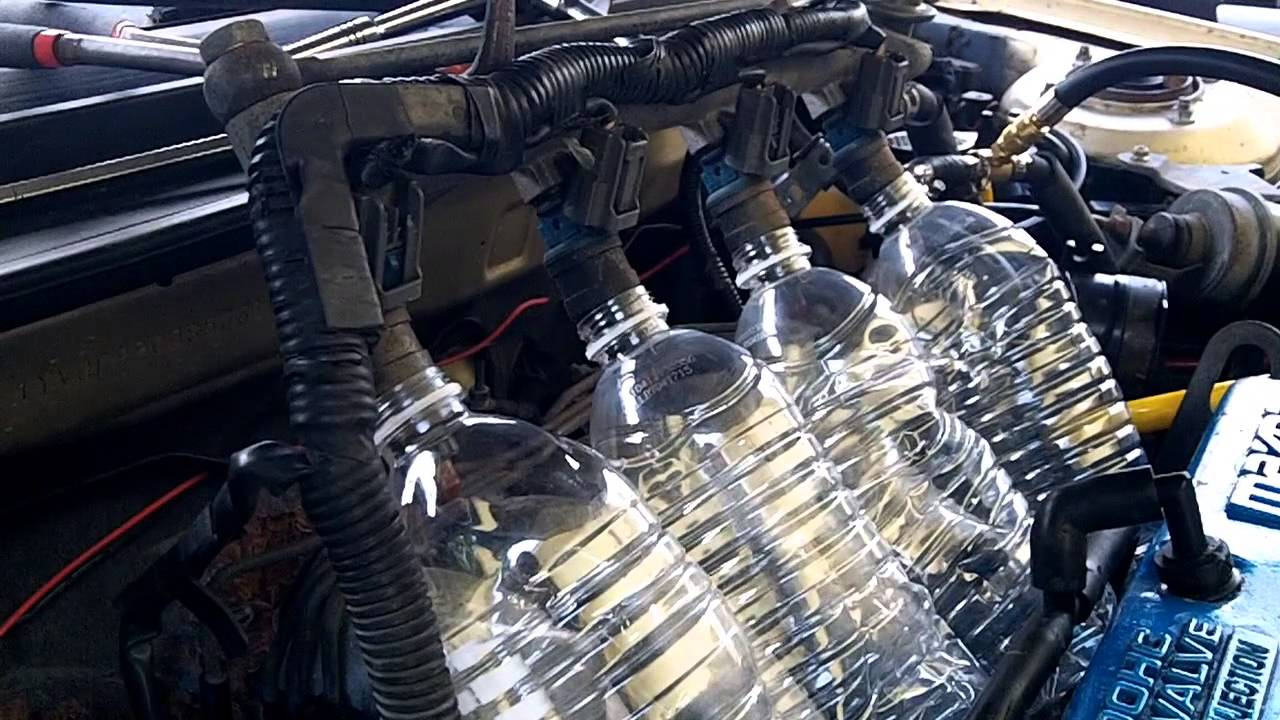 Mazda 626 - Fuel Injector Leak Test - YouTube