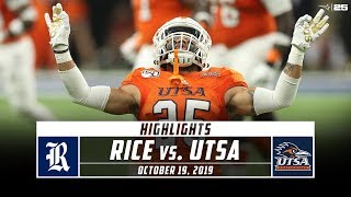 A late touchdown pass from utsa qb lowell narcisse to wr zakhari franklin was the difference maker as tops rice 31-27. check out highlights uts...
