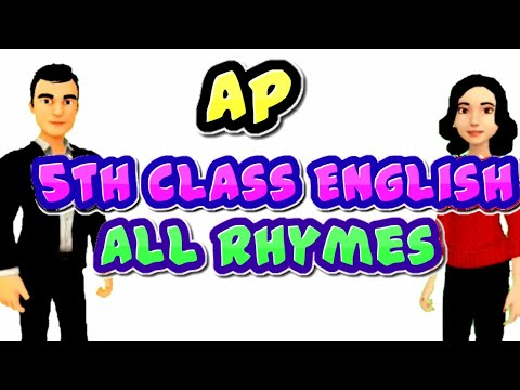5th class english all rhymes  5th class english rhymes ap
