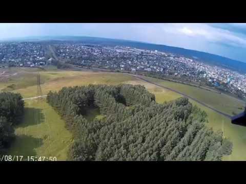Полет квадрокоптера Syma X8G за лысой горой город Мыски Кемеровская обл.