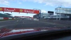Reliant Scimitar GTE does a lap of Silverstone