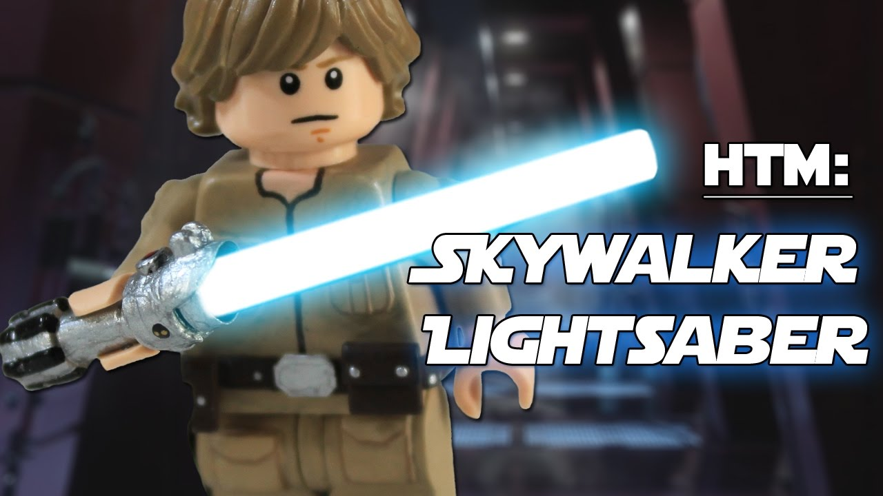 LEGO Star Wars Luke Skywalker with Lightsaber Minifigure Made From Lego NEW