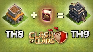 Let's Upgrade TH8 to TH9 With Book Of Building Magical Item | Clash Of Clans