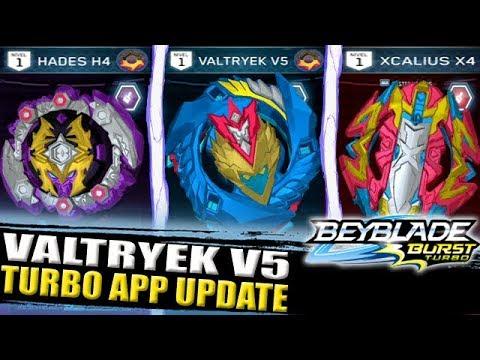 Valtryek V5 Hades H4 Epic Update Beyblade Burst Turbo App Youtube
