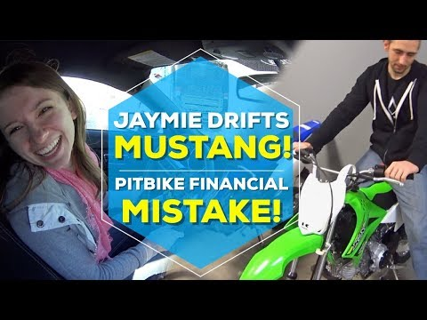 JAYMIE DRIFTS THE MUSTANG IN THE SNOW | 2018 KLX110 pit bike?