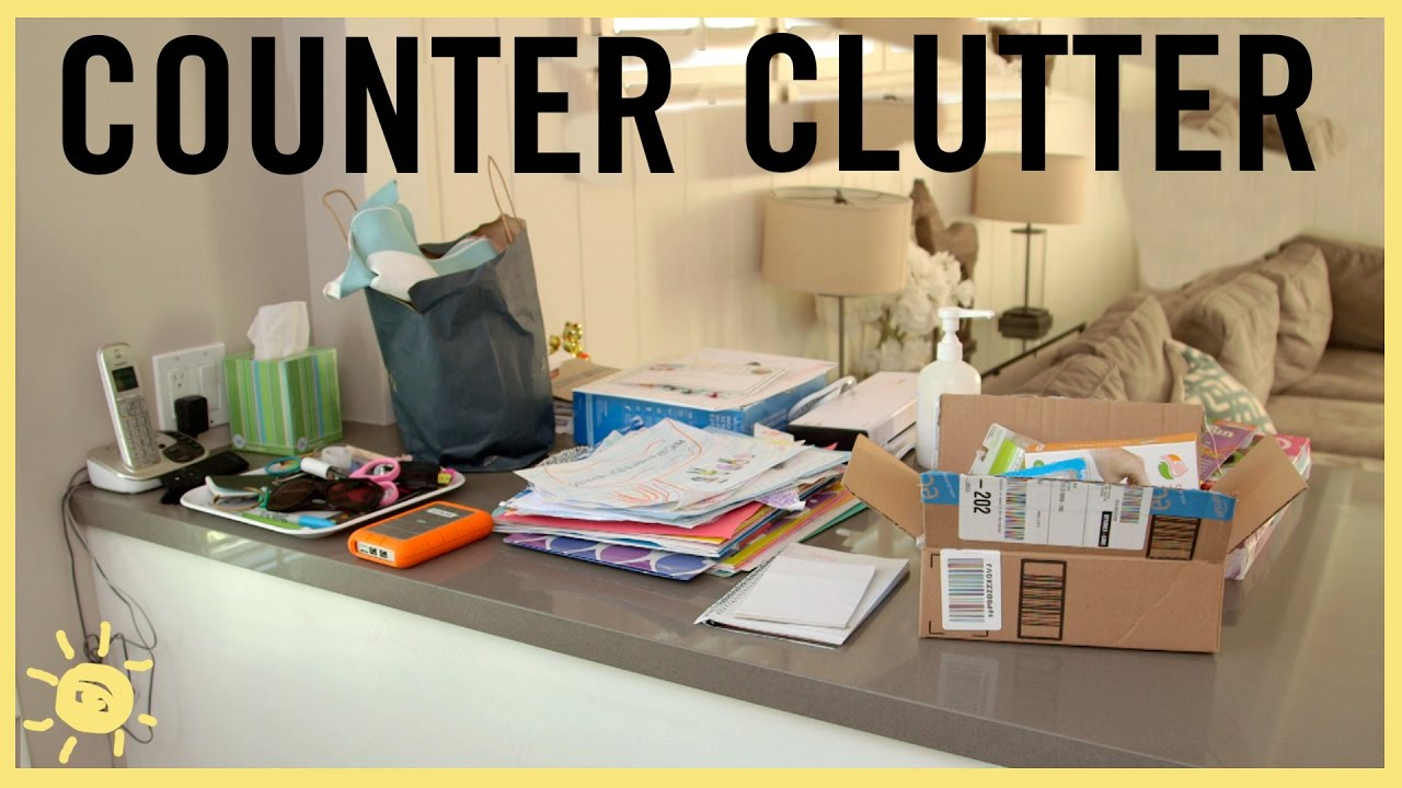 Organize Counter Clutter