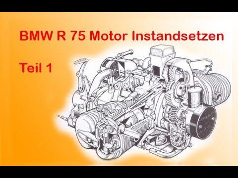 BMW R75 Motor Instandsetzen Teil 1 / Zerlegen