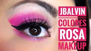 [MAQUILLAJE] JBalvin Colores Rosa Makeup 🌈💖