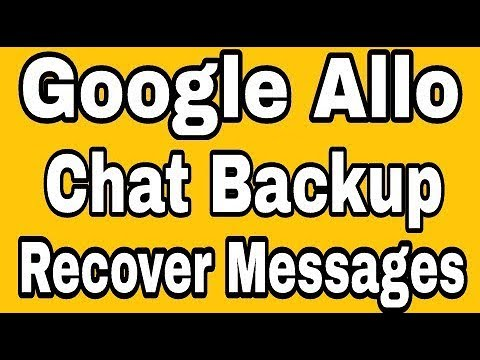 Chat Backup Google Allo || How To Recover Delete Messages In Google Allo