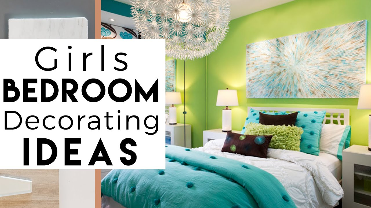 Room Tour Girls Bedroom Decorating Ideas Youtube