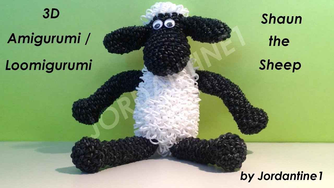New 3d Shaun The Sheep Loomigurumi Amigurumi Rubber Band