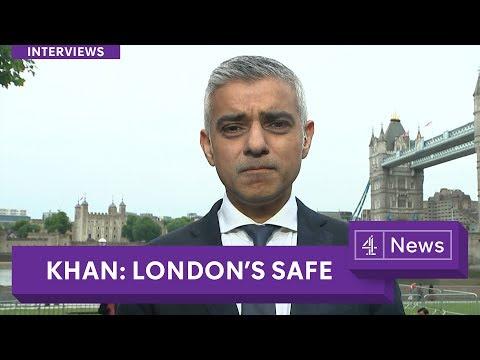 London Mayor Sadiq Khan: 'Police cuts are unsustainable'