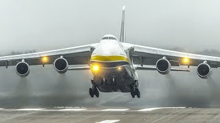 ANTONOV AN-124 LANDING + DEPARTURE - The MONSTER among PLANES (4K)