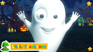 Five Little Skeletons | Halloween Learn Numbers Video for Kids | Childrens Songs by Little Treehouse