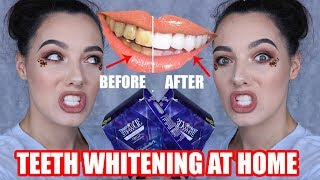 CREST TEETH WHITENING STRIPS AT HOME | NO MORE YELLOW TEETH