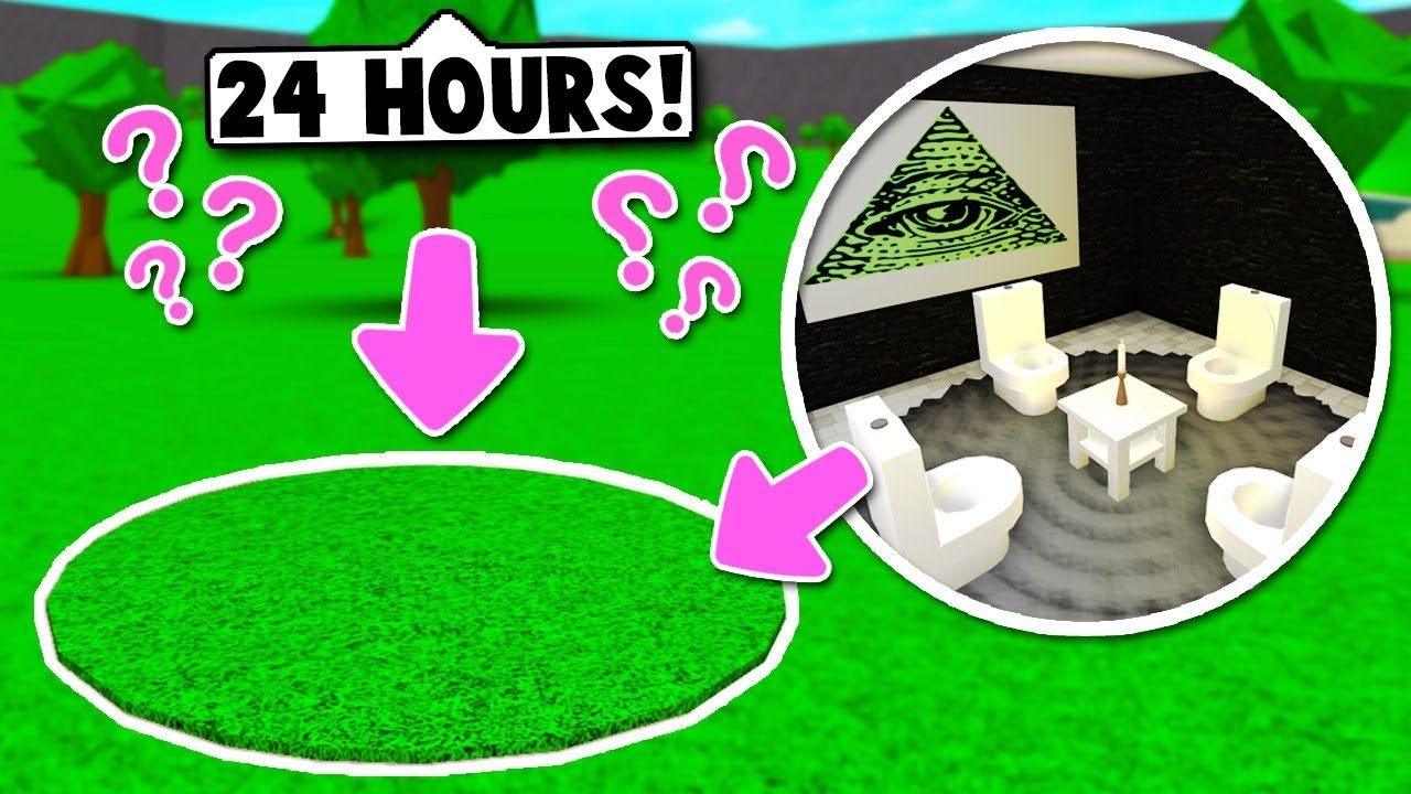 I Spent 24 Hours In Someones House Roblox Bloxburg Youtube - I Spent 24 Hours In A Stranger S Secret Basement On Bloxburg