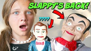 Slappy 39 s Back with Benson From Toy Story Attack of the Dummies Goosebumps in Real Life