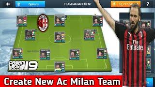Het Maken Van Ac Milan Team In Dream League Soccer 2018