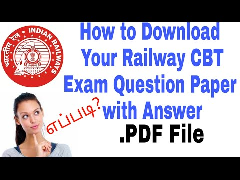 RRB JE CBT 1 || How to download your answer sheet with answer in railway exam Question paper