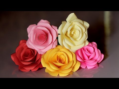 How to make paper Rose easy | Paper rose making tutorial | diy paper rose | Priknowtomakeit