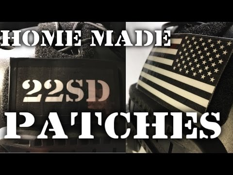 How to make custom Military patches // Flags, Call Signs, etc