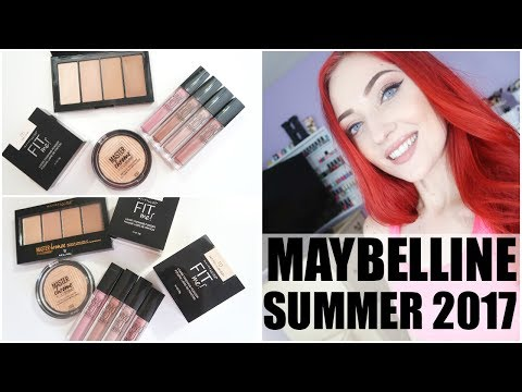 NEW MAYBELLINE MAKEUP SUMMER 2017 | TRY ON + FIRST IMPRESSIO