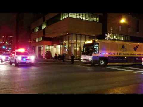 NY, NJ Port Authority Police Escorting With Rumblers, Lights And Sirens In Manhattan, NYC