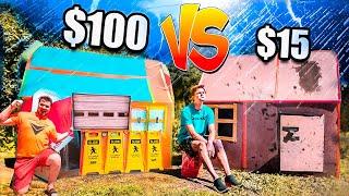 $1 VS $1,000 Box Fort Storm Shelter VS Storm *Budget Challenge*