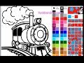 Coloring Train Videos | Train Coloring Pages