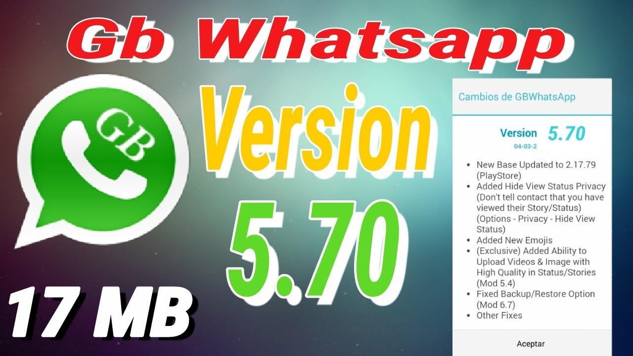 gbwhatsapp 5.70