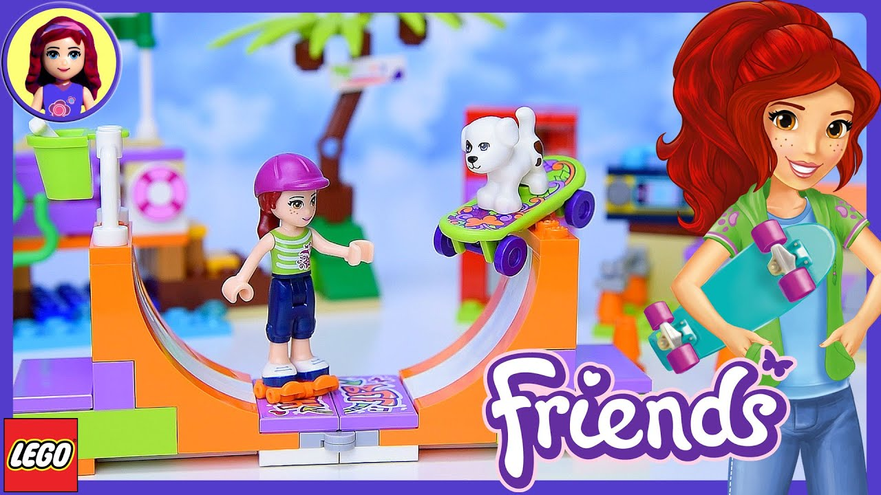 Lego Friends Heartlake Skate Park Build Review And Play Kids Toys