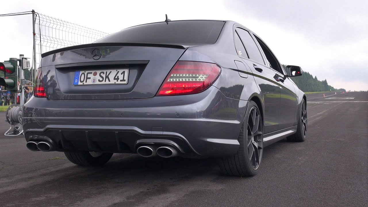 Mercedes benz c63 amg brutal revs youtube for C63 mercedes benz amg