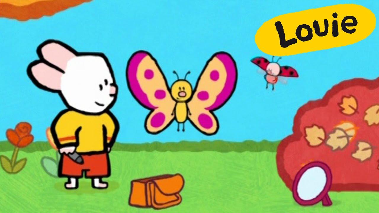 Mariposa  Louie dibujame una mariposa  Dibujos animados para