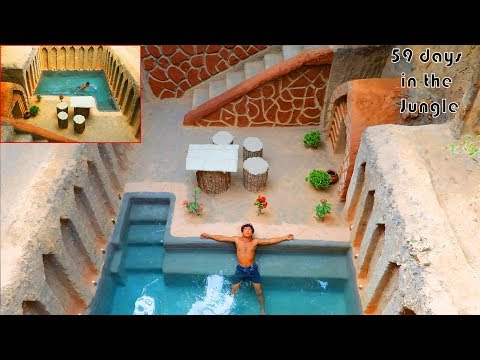 Unbelievable! Build the Best Underground House and Swimming Pool