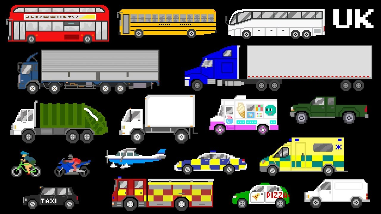 vehicles uk version street vehicles lorries trucks buses more the kids picture show youtube vehicles uk version street vehicles lorries trucks buses more the kids picture show