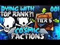 DYING WITH TOP RANK?!   Minecraft FACTIONS #1 (CosmicPvP Ice Planet)