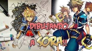 Dibujando a SORA!! Kingdom Hearts 2 Drawing | Speed-Drawing