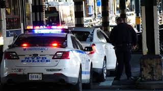 NYPD 114th Precinct pulls over car in Astoria, Queens and uses siren to back up