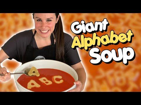 DIY GIANT ALPHABET SOUP