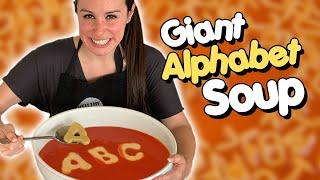DIY GIANT ALPHABET SOUP ??// VERSUS