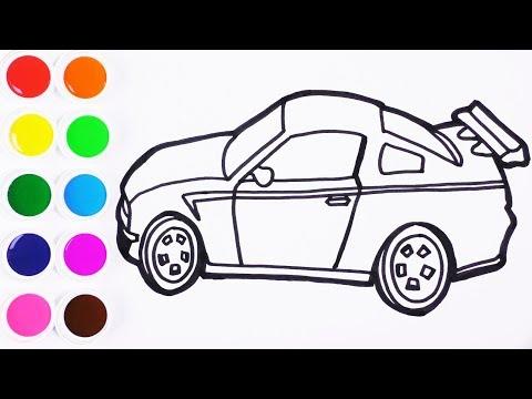 Como Dibujar y Colorear Coche de Arco Iris - Dibujos Para Niños ...