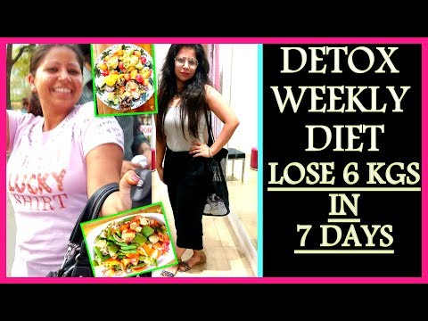 7 Days Detox Diet Plan: How To Lose Weight 1KG in 1 Day | Weight Loss Salad Recipe | Fat to Fab