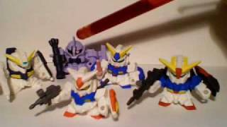 SD Gundam Gashapon toy review part 1 of 3