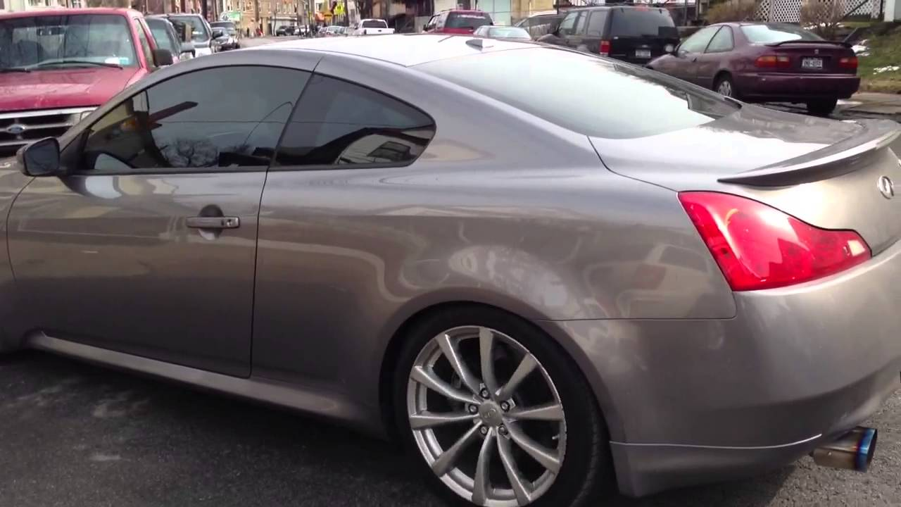 g37 stock exhaust and HKS exhaust sound by LED IntoTheCar