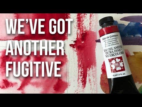 Alizarin Crimson - Daniel Smith Watercolors | The Paint Show 48