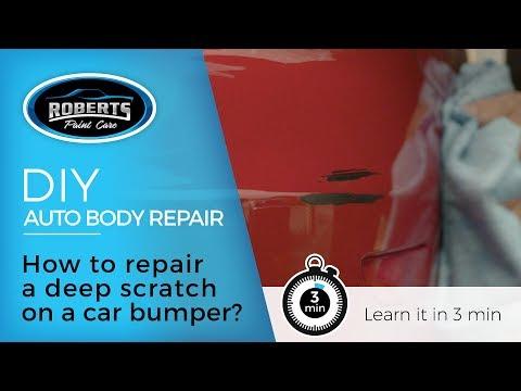 DIY: How to repair deep scratches on a car bumper?