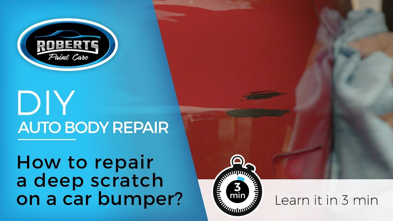 Diy How To Repair Deep Scratches On A Car Bumper Youtube